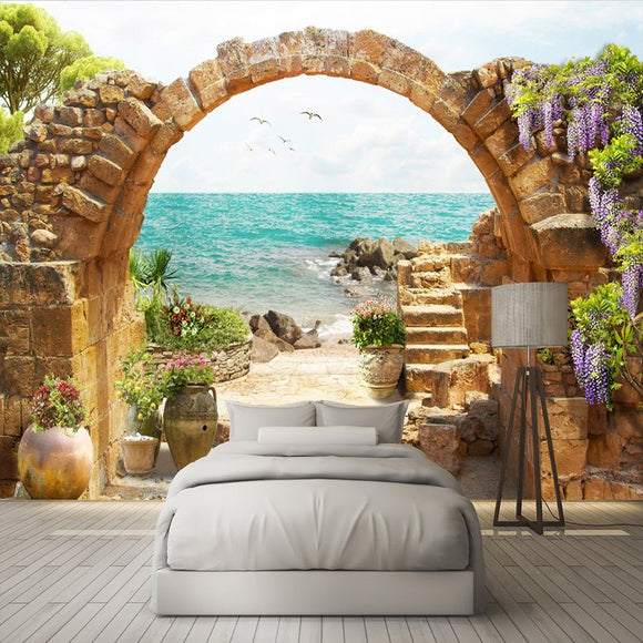 custom-wall-mural-wallpaper-garden-stone-arches-sea-view-3d-photo-wallpaper-for-living-room-sofa-bedroom-backdrop-large-murals