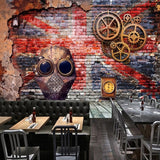 custom-mural-free-shipping-bvmhome-Creative-Wallpaper-european-nostalgic-graffiti