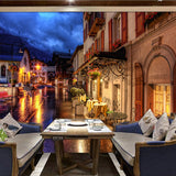 custom-wallpaper-murals-papel-de-parede-european-style-retro-art-background-decor-coffee-street-night-view-mural-wall-painting