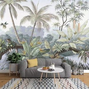 custom-wallpaper-wall-murals-wall-stickers-retro-nostalgic-rainforest-tree-countryside-mural-background-wall-g024