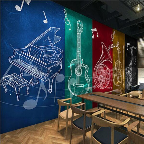 custom-rock-guitar-musical-notes-wallpaper-murals-ktv-bar-restaurant-dance-music-backdrop-wallpaper-papel-de-parede