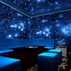 custom-mural-wallpaper-papier-peint-papel-de-parede-wall-decor-ideas-for-bedroom-living-room-dining-room-wallcovering-Blue-Night-Universe-Space-Shinning-Stars-Mural-Wallpaper-For-Wall-Ceiling