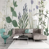 custom-size-wall-mural-3d-wallcovering-decorative-wallpaper-background-wall-painting-modern-nordic-hand-painted-flowers-plants