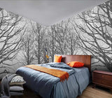 custom-size-wall-mural-3d-wallcovering-decorative-wallpaper-black-and-white-trees-forest-scene-background-wall-painting