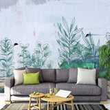 custom-size-wall-mural-3d-wallcovering-decorative-wallpaper-black-and-white-trees-forest-scene-background-wall-painting-hand-painted-watercolor-plants