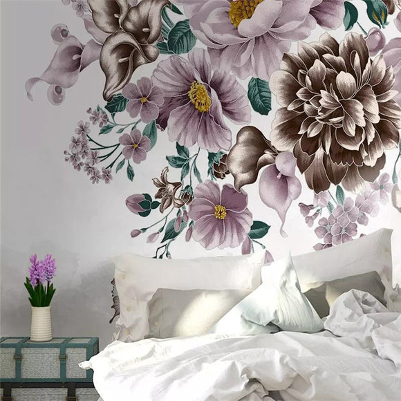 custom-size-wall-mural-3d-wallcovering-decorative-wallpaper-background-wall-painting-HD-floral-hand-painted