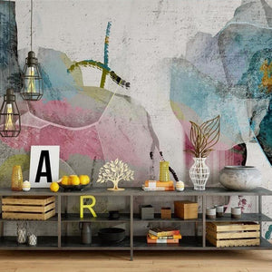 custom-size-wall-mural-3d-wallcovering-decorative-wallpaper-background-wall-painting-modern-ink-floral