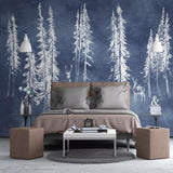 custom-mural-wallpaper-3d-living-room-bedroom-home-decor-wall-painting-papel-de-parede-papier-peint-nordic-painting-style-cartoon-forest-tree-elk-pastoral
