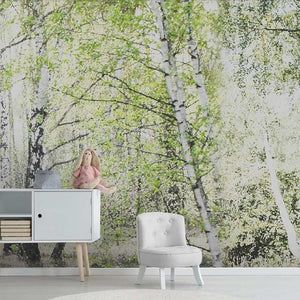 custom-size-wall-mural-decorative-wallpaper-small-forest-background-wall-painting