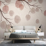 custom-size-wall-mural-decorative-wallpaper-series-modern-and-simple-style-tree-branches-and-leaves-vintage-tv-background-wall-paintings