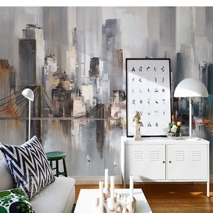 retro-abstract-oil-painting-tv-background-wallpaper-new-york-city-landscape-mural-bedroom-sofa-film-wall-wallpaper-papier-peint