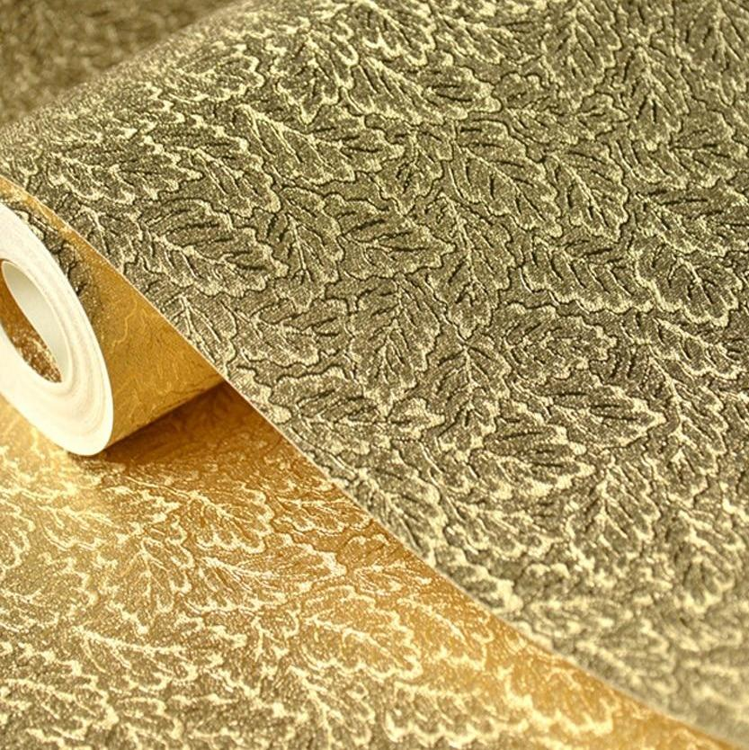 European Luxury Glitter Silver Gold Foil Wallpaper 2 Color Options 5 3