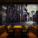 european-town-retro-street-view-wallpaper