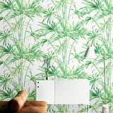 green-leaves-tropical-wall-paper-natural-bamboo-pattern-wallpaper