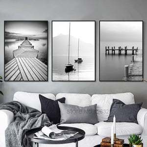 grey-ferry-bridge-posters-prints-wall-art-canvas-painting-cuadros-nordic-poster-picture-wall-pictures-for-living-room-unframed
