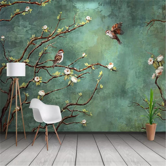 hand-painted-oil-painting-flowers-and-birds-professional-production-mural-factory-wholesale-wallpaper-mural-poster-photo-wall-papier-peint