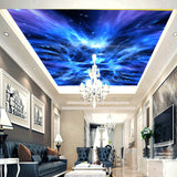 custom-wallpaper-wallcovering-ceiling-mural-blue-galaxy-aurora