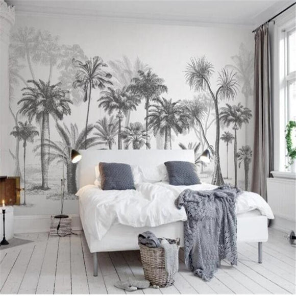 black-and-white-tropical-rain-forest-custom-wallpaper-3d-mural-study-living-room-sofa-tv-background-waterproof-canvas-wallpaper-wall-painting-papier-peint-wallcovering-nursery