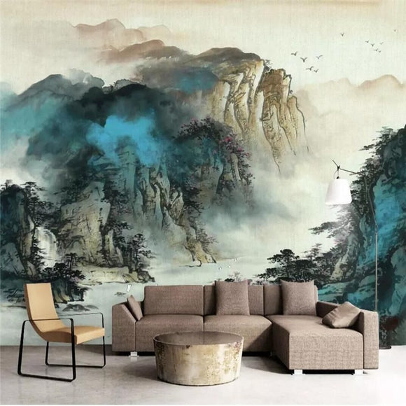 majestic-ink-mountain-landscape-background-wall-professional-custom-high-end-mural-factory-wholesale-wallpaper-mural-photo-wall