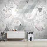 custom-mural-wallpaper-3d-living-room-bedroom-home-decor-wall-painting-papel-de-parede-papier-peint-nordic-abstract-geometric-flamingo-tropical-plant