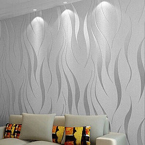 Modern Wallcovering Abstract Geometric Wallpaper Silver Grey (5.3 ㎡)