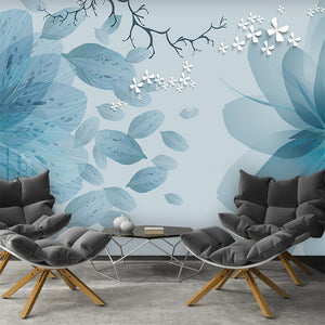 modern-minimalist-blue-tone-flowers-butterfly-mural-living-room-sofa-background-home-decoration-waterproof-fresco-3d-wallpaper