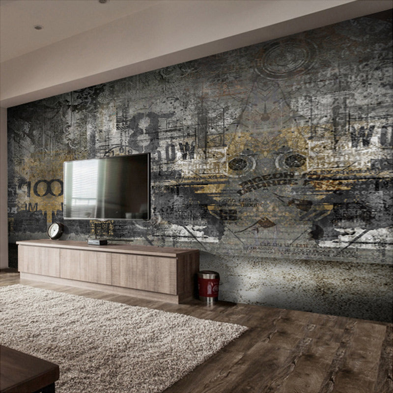 Custom Mural Wallpaper Modern Minimalist Street Graffiti