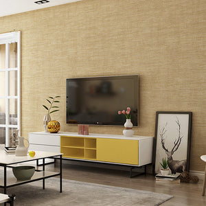 Modern-Minimalist-Wallpaper-Straw-linen-textured-wallcovering