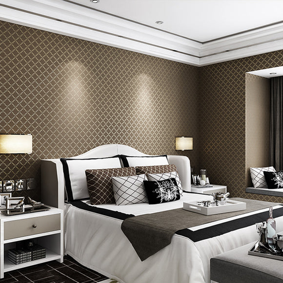 Luxury-Fabric-Lattice-Stripe-Wallpaper-Foam-Embossed-wallcovering