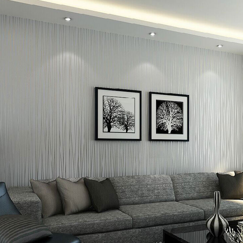 modern solid color vertical striped wallpaper wallcovering