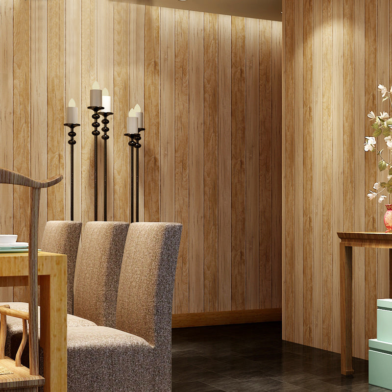 Striped Wood Grain Wallpaper Wallcovering Free Shipping