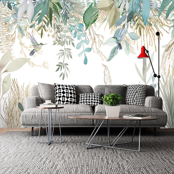 photo-wallpaper-modern-hand-painted-tropical-plant-leaves-flowers-and-birds-murals-living-room-bedroom-waterproof-wall-painting-papier-peint