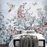 custom-mural-wallpaper-papier-peint-papel-de-parede-wall-decor-ideas-for-wallcovering-Self-Adhesive-Modern-Tropical-Plant-Flowers-And-Birds