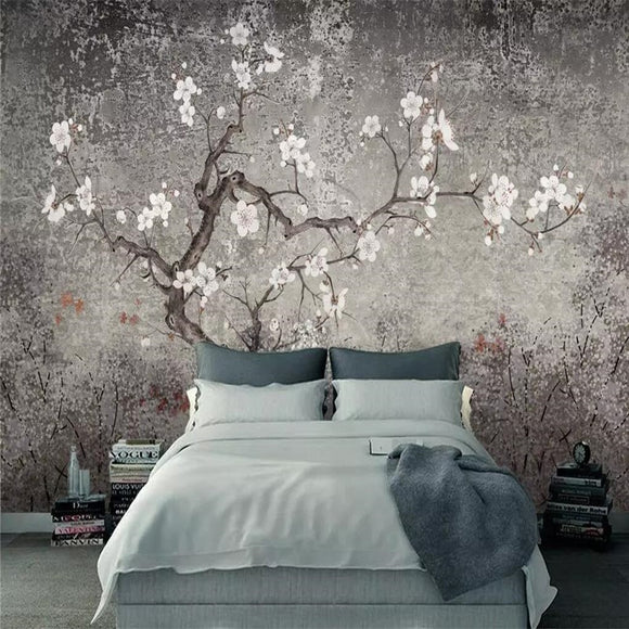 plum-flower-hand-painted-flowers-and-birds-professional-production-murals-wholesale-wallpaper-mural-poster-photo-wall-chinoiserie-papier-peint