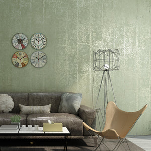 Retro-Plain-Solid-Color-Silver-Gray-Striped-Wallpaper