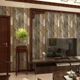 wood-grain-effect-wallpaper-vintage-retro-wallcovering-free-shipping