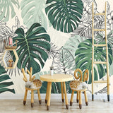 self-adhesive-wallpaper-modern-tropical-plant-photo-wall-murals-living-room-bedroom-waterproof-canvas-home-decor-papel-de-parede-papier-peint