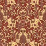 temple-taj-mahal-elephant-palm-trees-tropical-wallpaper-metallic-shimmer-southeast-asia-thai-style-background-wall-paper