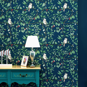 vintage-american-birds-flowers-wallpaper-for-living-room-bedroom-blue-countryside-floral-contact-paper-home-decoration-ab-style