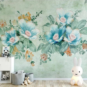 custom-mural-wallpaper-3d-living-room-bedroom-home-decor-wall-painting-papel-de-parede-papier-peint-hand-painted-flower-blue-green-floral-wallcovering