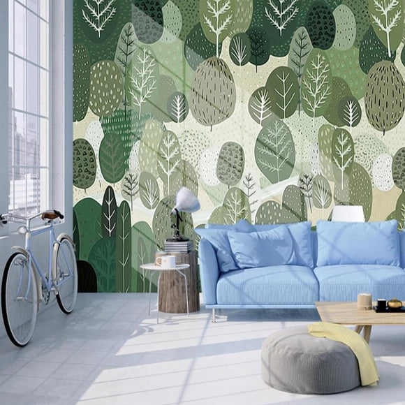 custom-mural-wallpaper-3d-living-room-bedroom-home-decor-wall-painting-papel-de-parede-papier-peint-nordic-cartoon-woods-forest-landscape