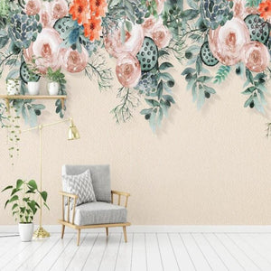 custom-mural-wallpaper-3d-living-room-bedroom-home-decor-wall-painting-papel-de-parede-papier-peint-American-hand-painted-rose-flower-vine