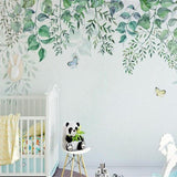 high-quality-papel-de-parede-3d-wallpaper-nordic-hand-painted-fresh-leaves-vine-sofa-tv-backdrop-wall-paper-mural