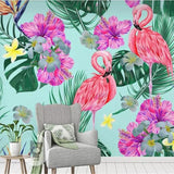 3d-mural-wallpaper-custom-photo-wallpaper-flamingo-flowers-plants-tropical-rainforest-wall-wallpaper-for-kids-room