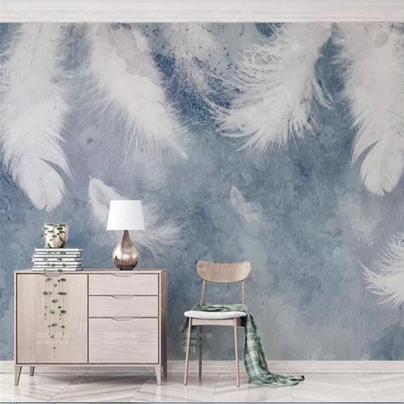 3d-wallpaper-walls-ink-hand-drawn-feathers-small-fresh-nordic-tv-background-wall-painting-wall-paper-for-kids-room