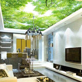 custom-fashion-wallpaper-aromatherapy-green-hd-sky-trees-zenith-advanced-indoor-papel-de-parede-3d-wallpaper-tapety