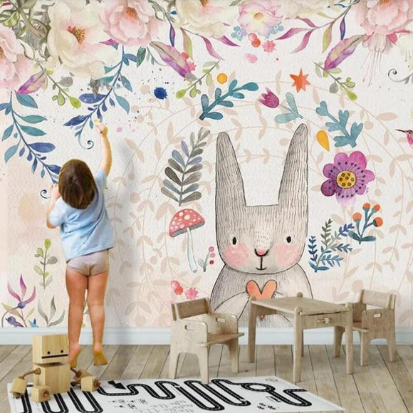 custom-mural-nursery-nordic-fashion-wallpapers-animal-balloons-kids-house-background-papel-de-parede-wall-papers-home-decor-papier-peint