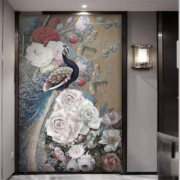 custom-wallpaper-3d-mural-new-chinese-style-flower-rich-rose-peacock-porch-background-wallpaper-murals-papel-de-parede