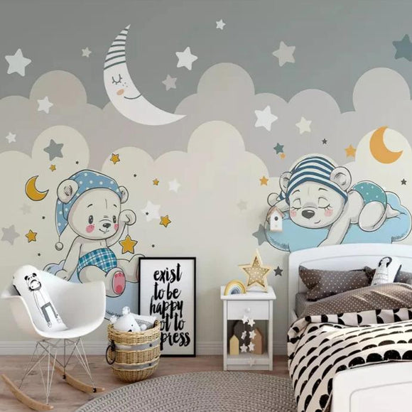 mural-nursery-customized-modern-fashion-stereo-wallpaper-elephant-riding-bicycle-cloud-children-background-wallpapers-home-decor-papier-peint