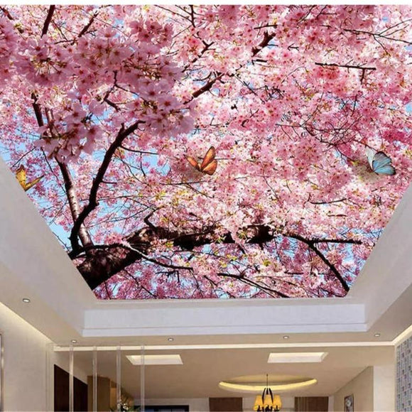 high-decorative-painting-wallpaper-beautiful-atmosphere-blue-sky-white-cherry-ceiling-zenith-wallpaper-for-walls-3-d